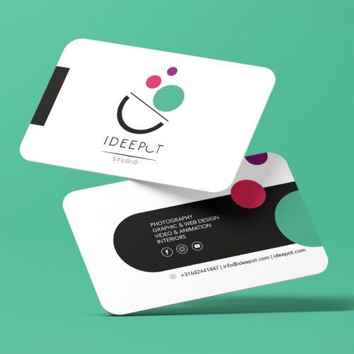 Ideepot_Bussines_card. Graphic design, Interior design, Web design. Integral design