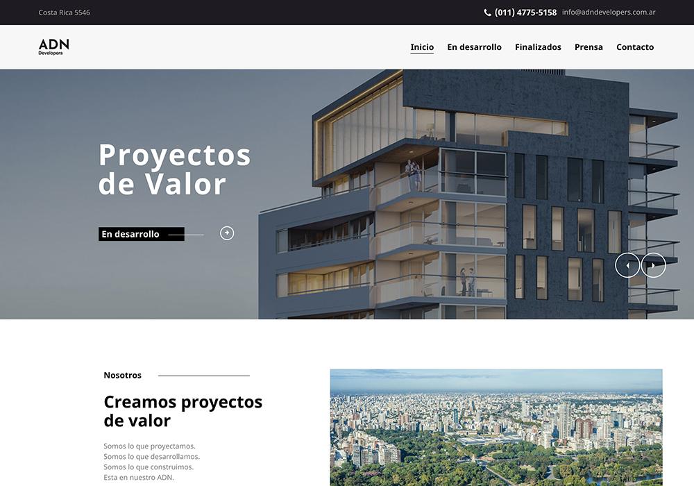 ADN. Graphic design, Interior design, Web design. Integral design